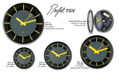 Analog Clocks - Profile TGV Series