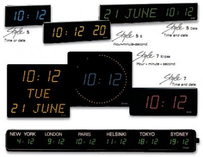LCD Digital Clocks - Style Series