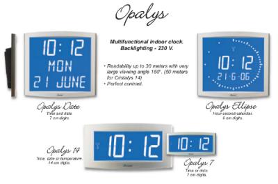 LCD Digital Clocks - Opalys Series