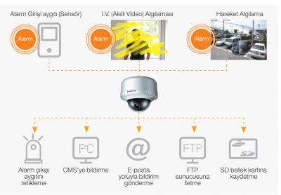 Samsung IP Kamera - Alarm Olayı Kontrolü